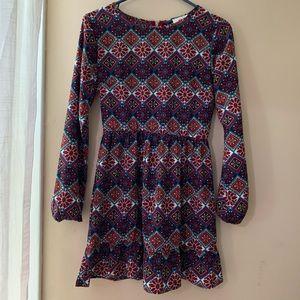 One clothing XS dress, beautiful print like new